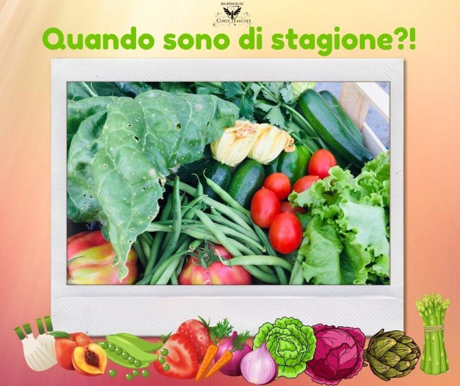 le stagioni della frutta e verdura